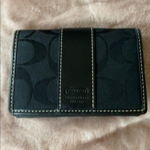 COACH Monogram Black Card Case